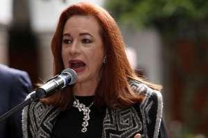 QUITO, Ecuador.- María Fernanda Espinosa se refirió también al juicio político que plantea la Asamblea en su contra. Foto: API