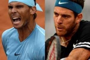 Rafael Nadal y Juan Martín Del Potro se medirán este viernes 8 de junio por un cupo a la final. Foto: AFP
