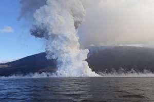 La Cumbre es uno de los ocho volcanes activos que tiene Galápagos. Foto: AFP