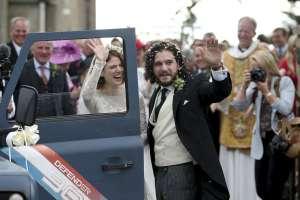 Se casan Kit Harington y Rose Leslie, pareja en 'Game of Thrones'. Foto: AP