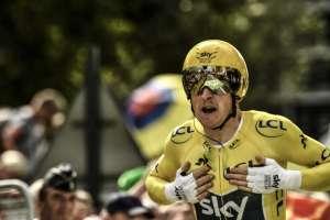 El ciclista galés quedó tercero en la contrarreloj disputada este sábado. Foto: Philippe LOPEZ / AFP