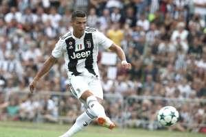 El delantero portugués convirtió el primer gol del elenco italiano ante su filial. Foto: Isabella Bonotto / AFP