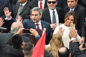 Asume su cargo el nuevo presidente de Paraguay, Mario Abdo Benítez. Foto: AFP