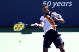 El jugador australiano iba perdiendo y tras las charla ganó el partido. Foto: AL BELLO / GETTY IMAGES NORTH AMERICA / AFP