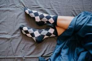 ¿Tienes algunos calcetines especiales para dormir?