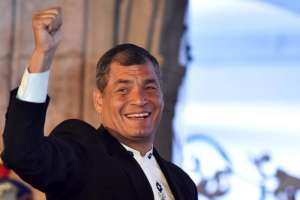 Correa tiene orden de prisión preventiva por el caso. Foto: AFP