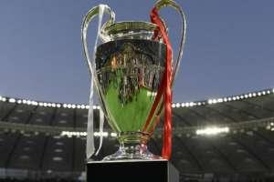 Este fue el trofeo de la UEFA Champions League antes de la final entre Liverpool y Real Madrid. Foto: AFP
