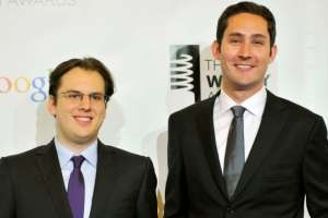 Kevin Systrom (derecha) y Mike Krieger continuaron dirigiendo Instagram cuando fue adquirida por Facebook, en 2012.