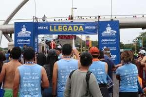 Cristhian Vásconez llegó en primero seguido por Gabriel Muñóz y el keniano Geoffrey Kiptoo. Foto: Franklin Navarro/ecuavisa.com