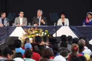 Moreno participó en el World Business Forum, capítulo Ecuador. Foto: Secretaría de Comunicación