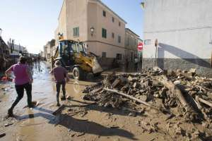 Sube a 13 los fallecidos por inundaciones en Mallorca Foto: AFP