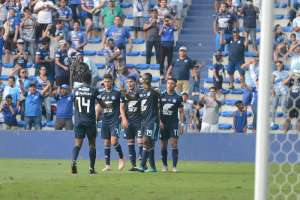 Los 'azules' superaron 3-1 a la 'chatoleí' en el estadio George Capwell. Foto: API