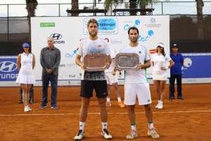 El tenista ecuatoriano hizo pareja con el argentino Guillermo Durán. Foto: Tomada de @challengye05