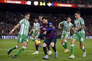 BARCELONA, España.- Messi anotó dos goles en este partido. Foto: AFP