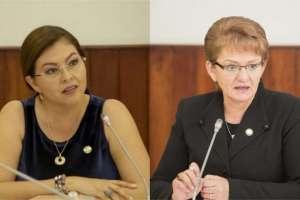 QUITO, Ecuador.- Sofía Espín y Norma Vallejo afrontan una eventual destitución de sus curules legislativas. Foto: Vistazo