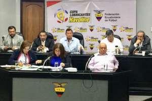 GUAYAQUIL, Ecuador.- La directiva de la FEF resolvió que el próximo año se podría modificar su estatuto. Foto: FEF