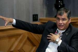 La jueza Camacho emitió orden de prisión para Correa por el caso Balda. Foto: Archivo
