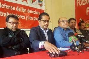 Integrantes del Frente Unitario de Trabajadores (FUT), se refirieron a la situación política del país. Foto: API
