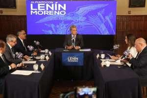 Agustín Albán, Nancy Vasco de Maldonado y Otto Sonnenholzner son los elegidos por Moreno. Foto: Comunicación Ec