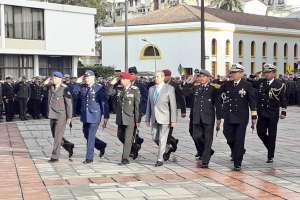 Presentan a los nuevos comandantes de las Fuerzas Armadas de Ecuador. Foto: Defensa Ec