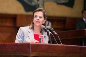 QUITO, Ecuador.- Ministra del Interior comparece ante la Asamblea por hechos violentos en Imbabura. Foto: Asamblea