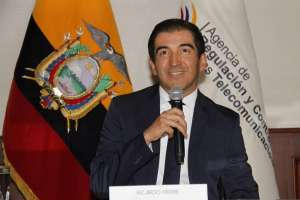 QUITO, Ecuador.- Ricardo Freire ratifica remoción de más de 20 altos funcionarios de la Arcotel. Foto: Twitter