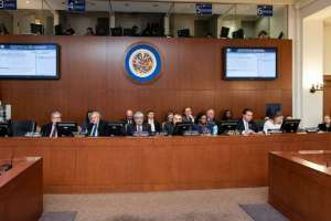 Consejo Permanente de la OEA realizó sesión extraordinaria por la crisis venezolana. Foto: Twitter @Almagro_OEA2015