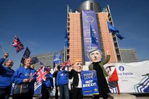 BRUSELAS, Bélgica.- Los 27 miembros del Consejo Europeo acordaron ofrecer dos opciones a Reino Unido. Foto: AFP.