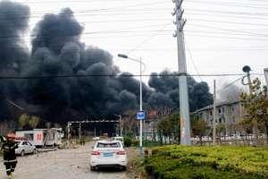 6 muertos por una explosión en una planta química en China. Foto: AFP