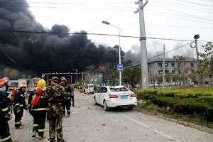 CHINA.- Más de 600 personas recibían atención médica tras la deflagración. Foto: Twitter