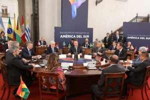 Moreno está en Chile, por el Encuentro de Presidentes de la región. Foto: Comunicación