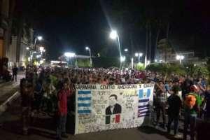 Cerca de 1.500 migrantes parten en nueva caravana desde el sur de México. Foto: Redes