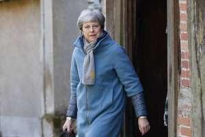 LONDRES, Reino Unido.- May deberá pronunciarse el lunes 25 de marzo sobre sus próximos pasos. Foto: AFP.