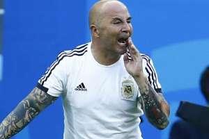 Sampaoli en su paso por la Selección Argentina.