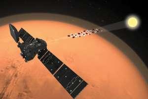 Satélite mide constituyentes del aire de Marte mirando a través de atmósfera hacia el Sol. Foto: ESA