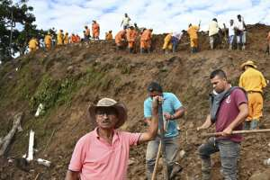 Al menos 17 muertos por deslave en suroeste de Colombia. Foto: AFP