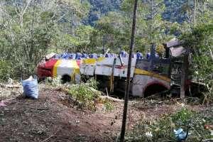 El bus de pasajeros de la empresa Totaí se trasladaba de La Paz hacia Rurrenabaque. Foto: Redes