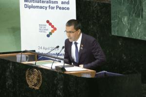 EE.UU.- 40 diplomáticos del Grupo de Lima abandonaron la sesión de la ONU durante discurso de Arreaza. Foto: Twitter
