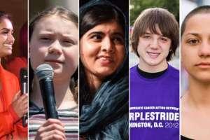 Una nueva generación de jóvenes activistas demuestra su preocupación por problemas sociales.