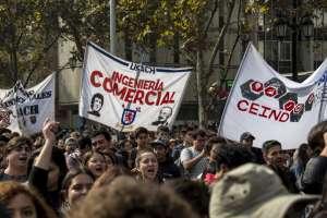 La de este jueves es la primera marcha estudiantil de 2019. Foto: AFP