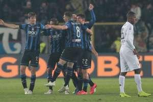 Atalanta festeja su paso a la final.