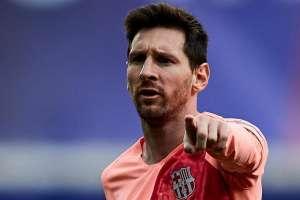 Messi con la camiseta de su equipo.