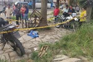 Hallan piel humana en un funda en el noroeste de Guayaquil. Foto: Twitter