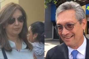 QUITO, Ecuador.- Ni María Augusta Enríquez, ni Tomislav Topic dieron declaraciones. Collage: Ecuavisa