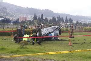 La caída del helicóptero de la fuerza pública ocurrió el 4 de marzo de 2019. Foto: API