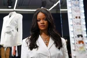 La cantante Rihanna, la primera mujer negra en la historia al frente de una marca de lujo parisina. Foto: AP