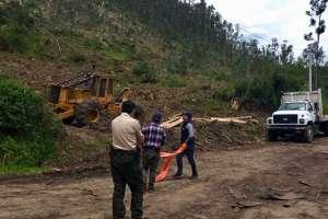 Los trabajadores indicaron que sí tenían los permisos correspondientes. Foto: AMC de Quito