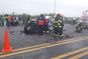 1 muerto y 5 heridos en accidente en Yaguachi. Foto: Twitter