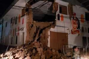 El sismo en Perú no causó víctimas aunque sí daños materiales en viviendas. Foto: Bomberos Perú