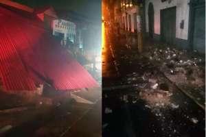 Un muerto y 11 heridos deja fuerte sismo en Perú. Foto: AFP